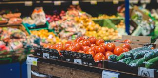 Магазин, продукты, овощи, прилавок
