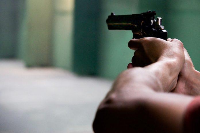 рука, пистолет, оружие