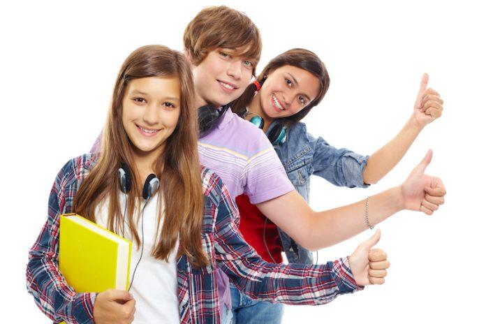 студенты, ученики, дети, подростки, молодежь
