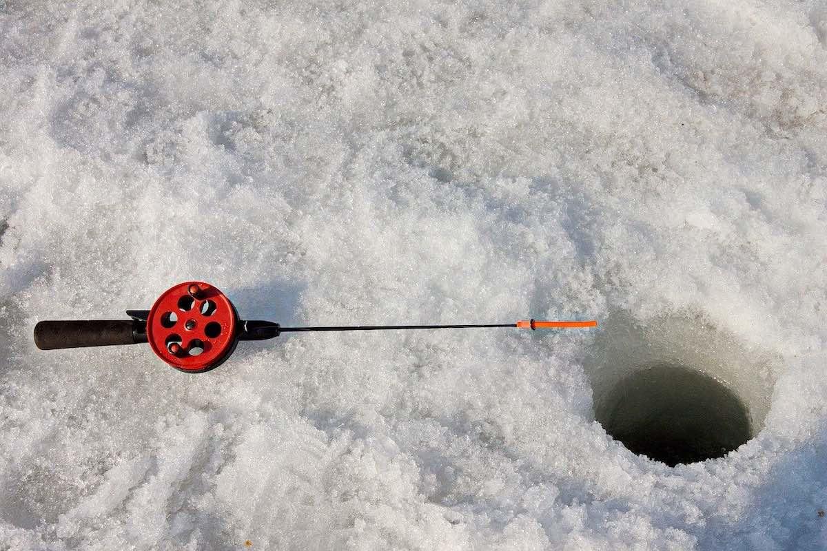 зимняя рыбалка, лед, зима, снег