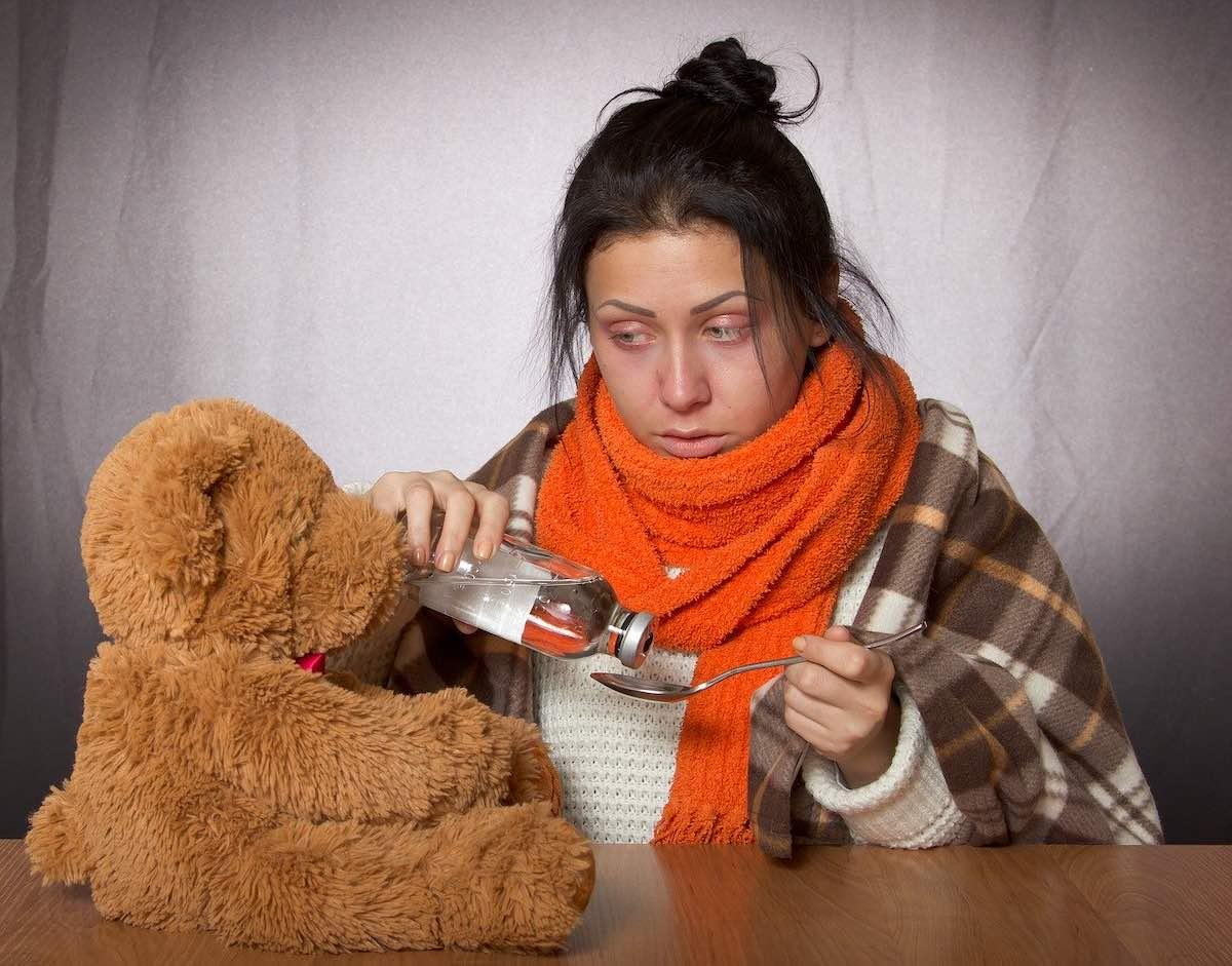 грипп, простуда, ОРВИ, девушка, болезнь