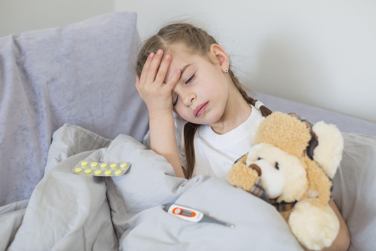девочка, ребенок, болезнь, грипп, орви