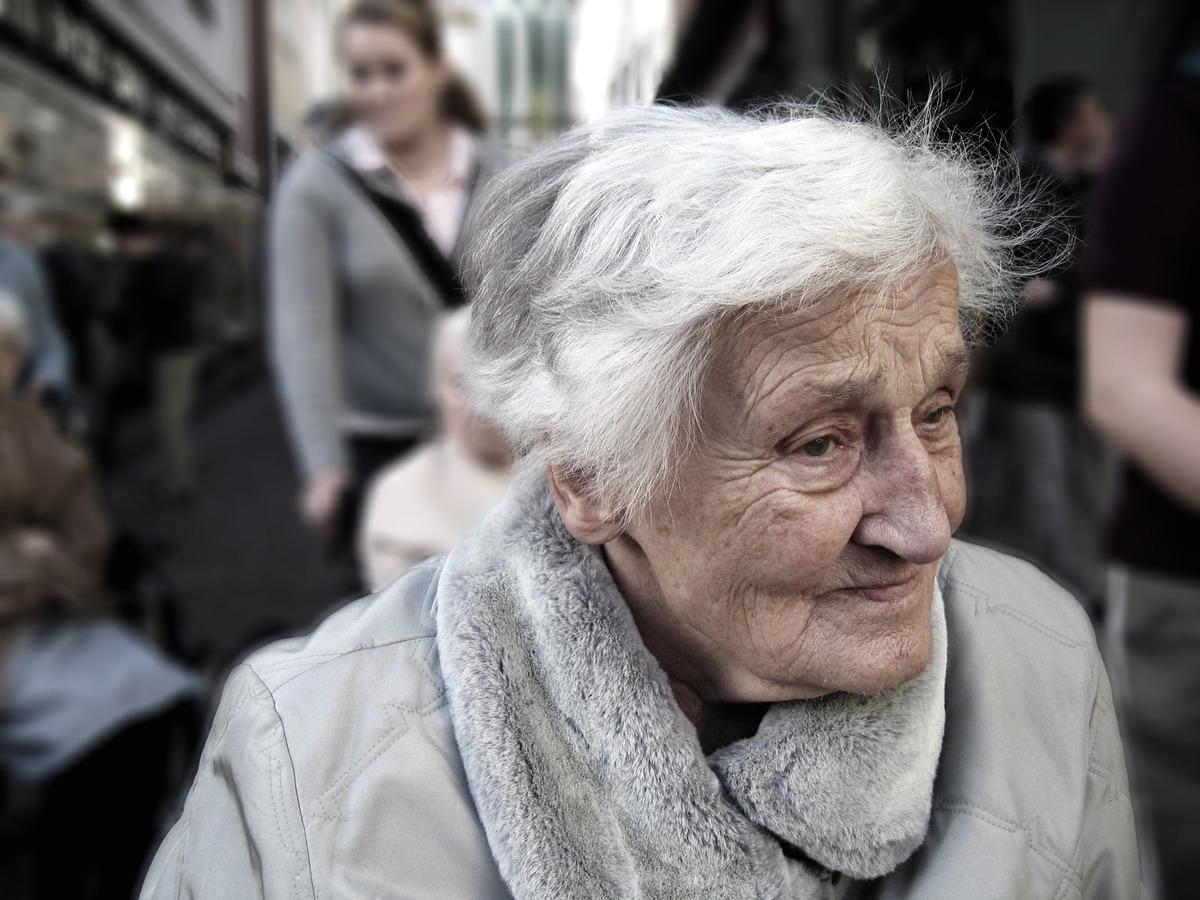 пенсионер, женщина, сениор, старость