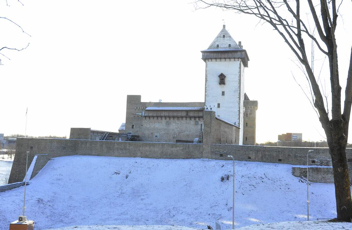 Нарва, замок, Герман, нарвский музей, зима