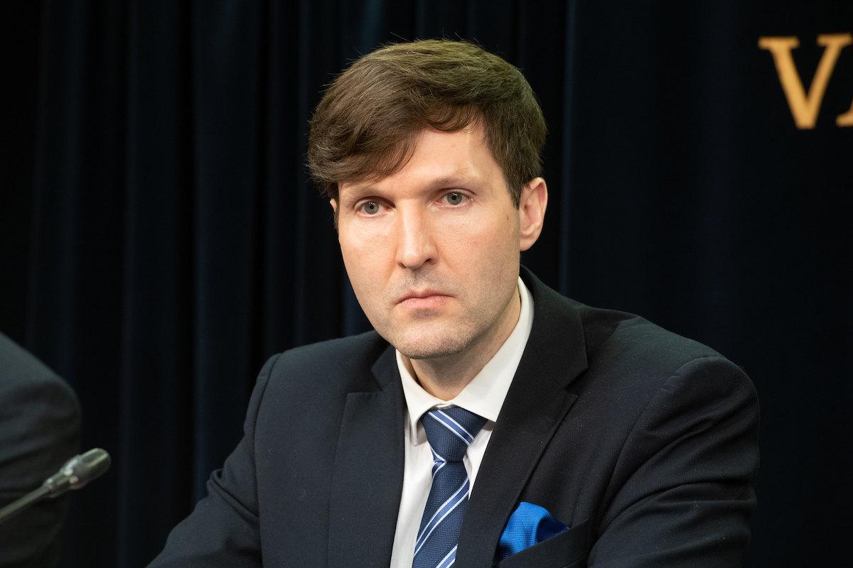 Министр финансов Мартин Хельме.