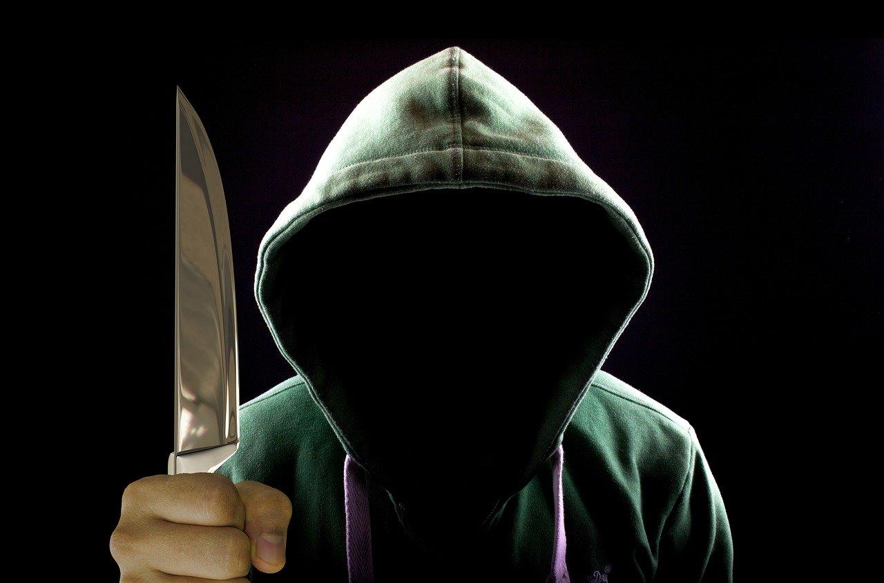 нож, преступник, угроза, преступность