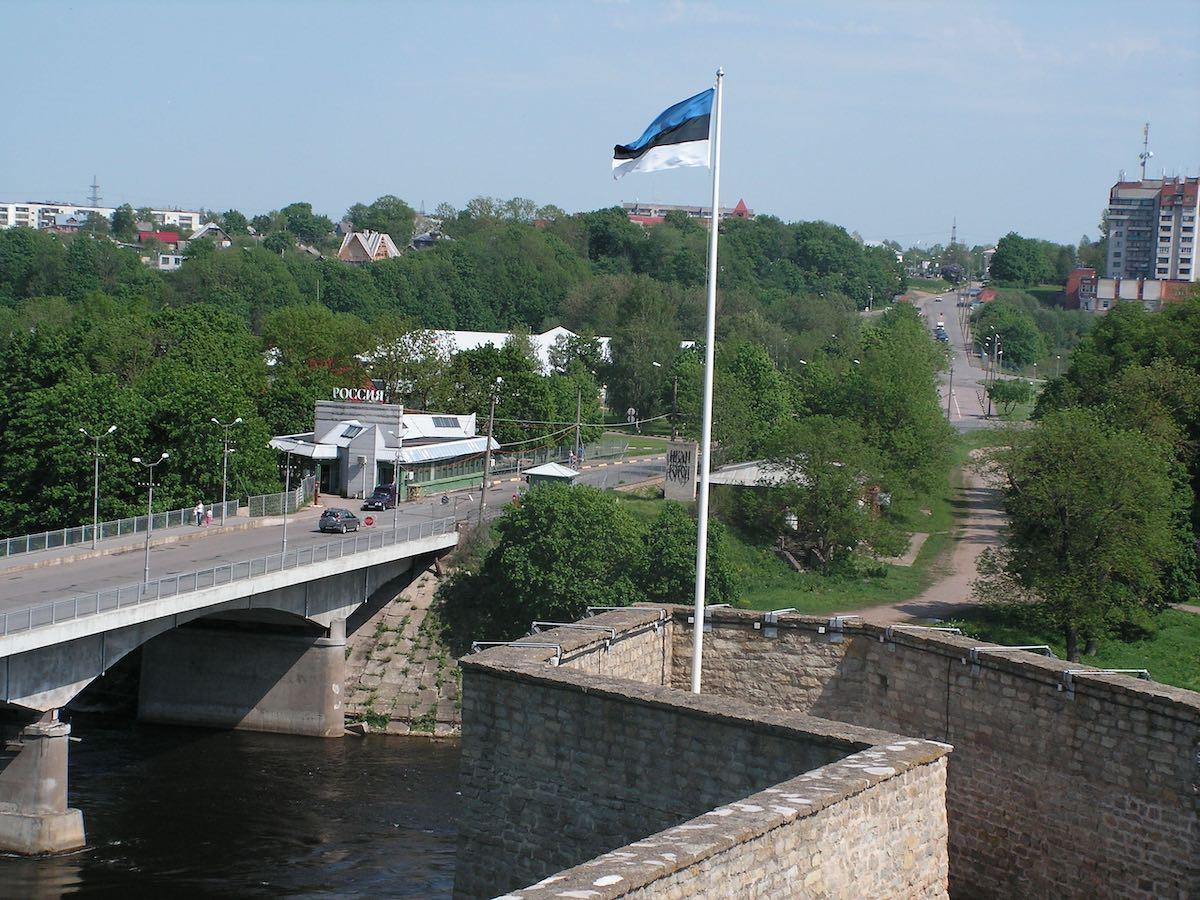 мост, дружба, граница, Нарва, Ивангород, лето