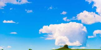 ландшафт, лето, облака, солнце, небо, погода