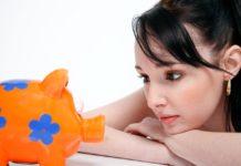 женщина, копилка, свинья, деньги, сбережения, накопления