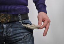 нет денег, безденежье, пустой карман, долг
