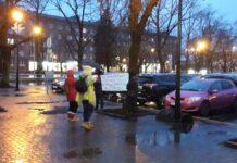 """Пикет в поддержку Евграфова. Фото газета """"Город"""""""