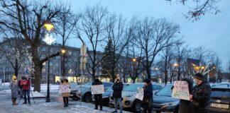 Пикет в поддержку новой коалиции и ее кандидатов в руководители города