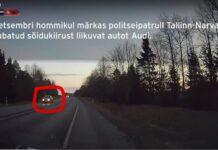 Стоп-кадр с видео погони