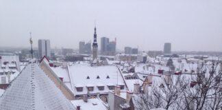 Таллинн в снегу. Фото Виктории Мисайлиди