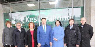 Юри Ратас и кандидаты в министры от ЦП