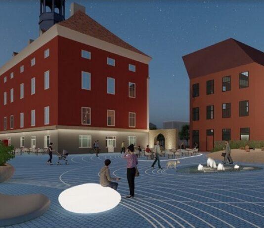 Эскизный проект Стокгольмской площади, ратуша, Нарва