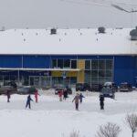 Каток перед спортхоллом в Нарве
