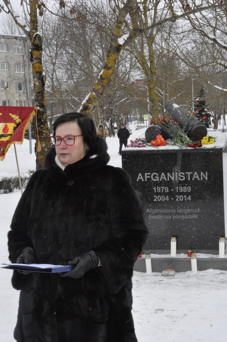Монумент афганцам. 32-летие вывода войск.