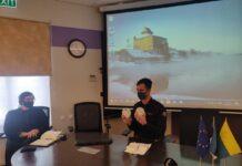 Пресс-конференция Нарвской команды Спасательного департамента и мэра Нарвы Катри Райк. Датчики