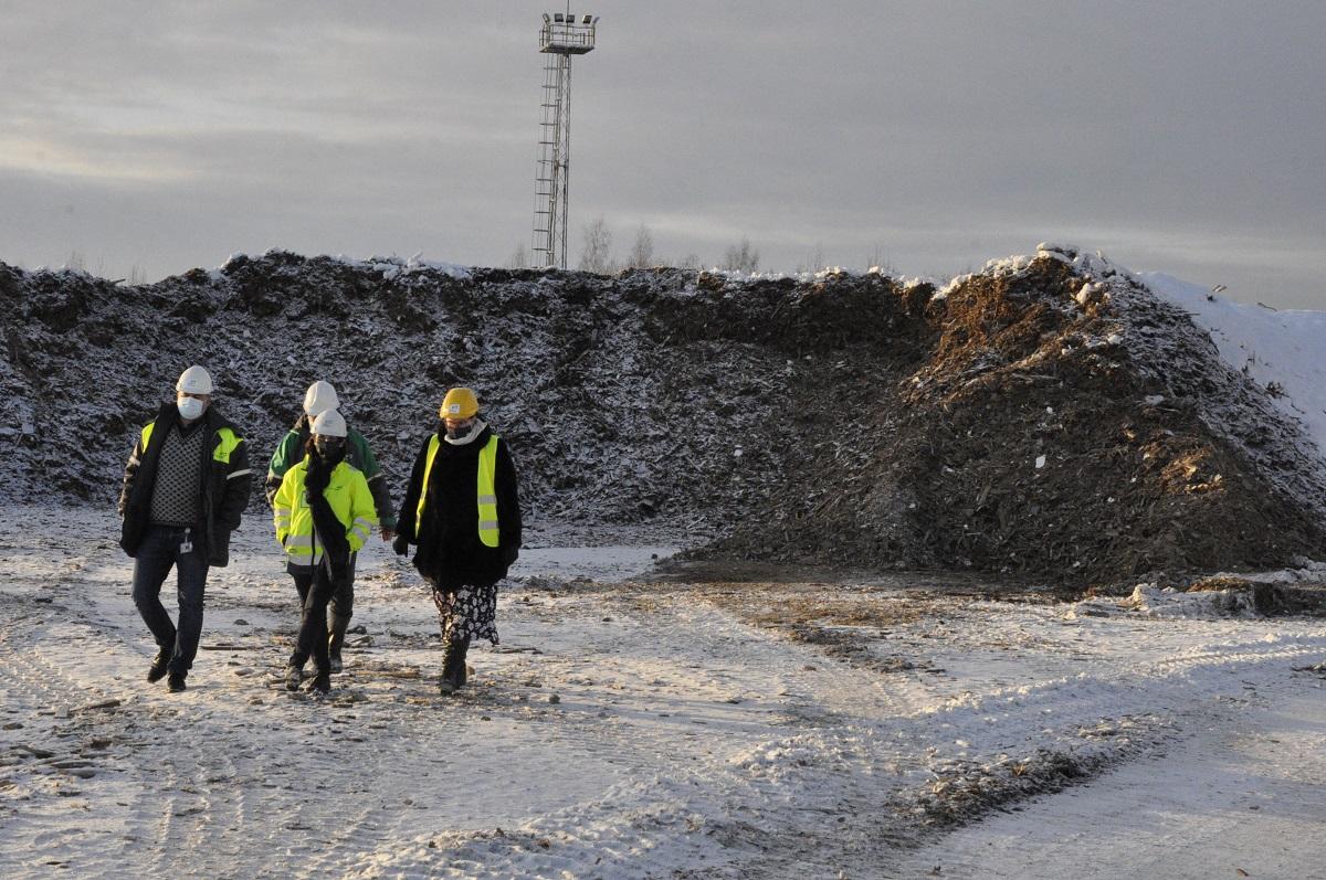 Привезенная из порта биомасса — древесные отходы. Теплоэнергия