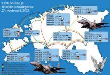 Самолеты Эстонии и НАТО облетят девять городов страны.