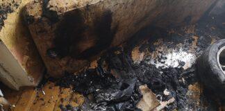 Пожар на ул. Лехола в Кохтла-Ярве.
