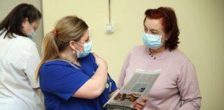Вакцинация в Нарвской больнице