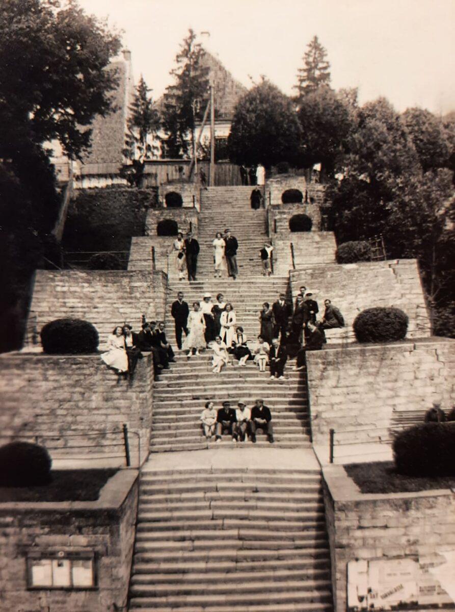 Лестница Гана, историческое фото