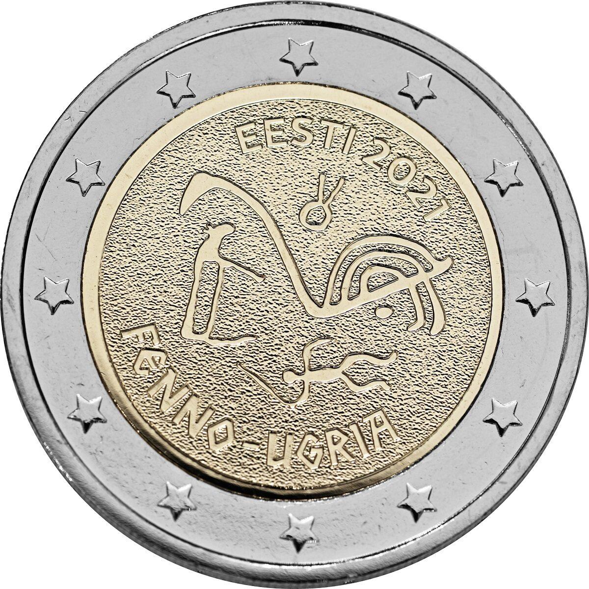 Новая монета Эстонии номиналом 2 евро. Фото: Eesti Pank