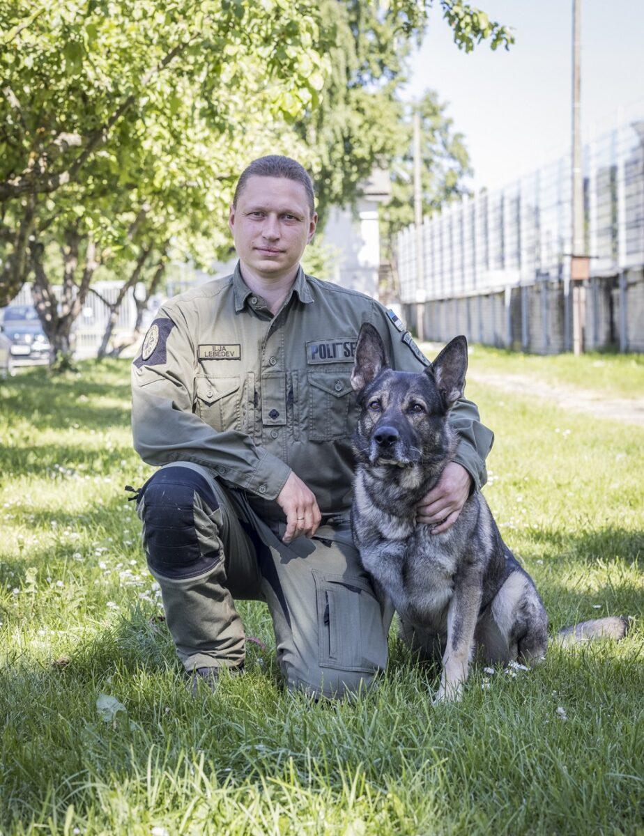 Илья Лебедев и шестилетний служебный пес Декстер