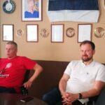 Руководитель театра Мярт Меос и председатель совета Vaba Lava Аллан Калдоя