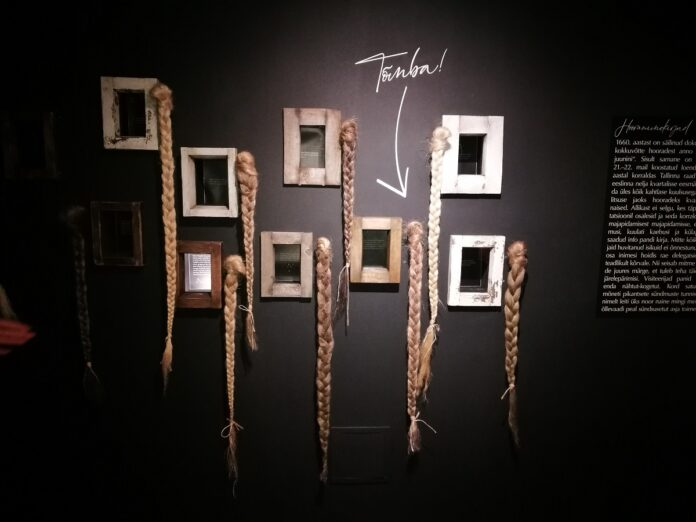 Отрубленные косы согрешивших женщин. Таллиннский городской музей