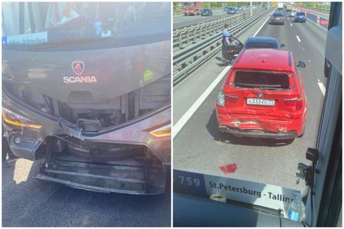 ДТП с автобусом Lux Express