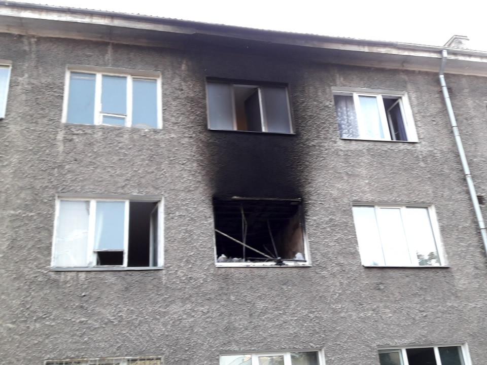 Пожар в квартире трехэтажного дома на Вестервалли в Нарве