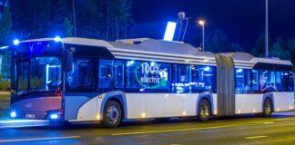 Тестируемый электробус на улицах Таллинна