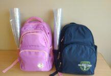 Ранец со школьными принадлежностями